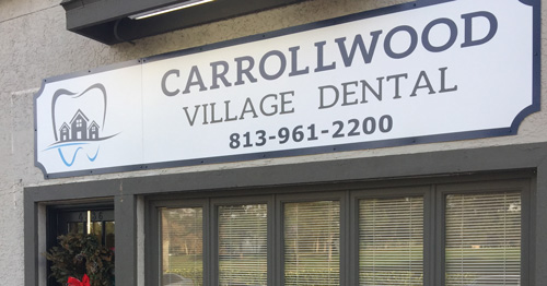 Front view of Carrollwood Village Dental